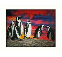 African Penguins Art Print
