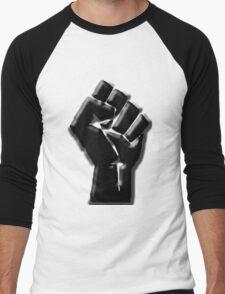 The Black Fist Men's Baseball ¾ T-Shirt