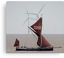 Thames Barge Canvas Print