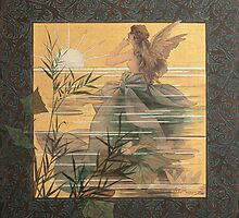 'Winged Nymph at Sunrise' by Alexandre de Riquer (Reproduction) by Roz Barron Abellera