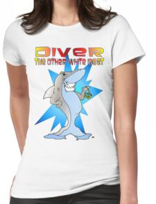 Diver the other White Meat Womens Fitted T-Shirt