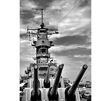 USS Missouri Guns  Photographic Print