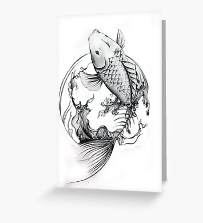they were swimming in the sea that they became Greeting Card