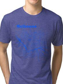Melbourne Map Tri-blend T-Shirt