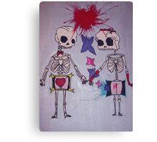 Skeletons :) Canvas Print