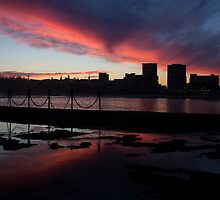 Newcastle Sunset by jaclyn-kavanagh
