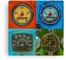 Vintage Speedometers Canvas Print