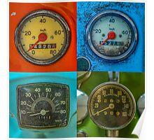 Vintage Speedometers Poster