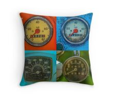 Vintage Speedometers Throw Pillow