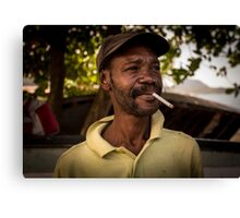 Worker Portrait: Alexander, Dominica Canvas Print