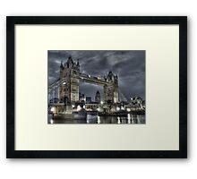 Tower Bridge at Night Framed Print