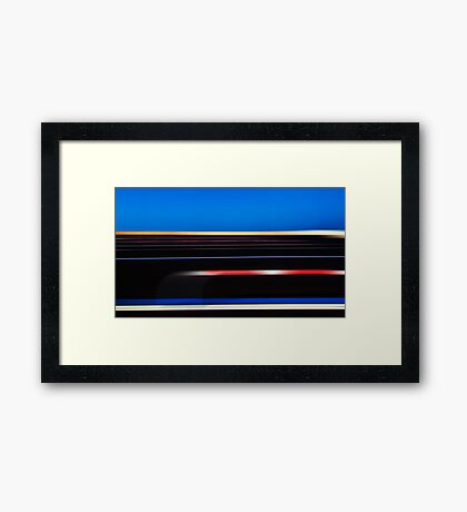 Coloured parallelism Framed Print