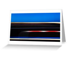 Coloured parallelism Greeting Card