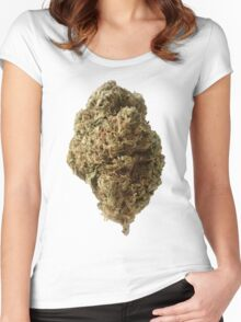 weed the big bud Women's Fitted Scoop T-Shirt