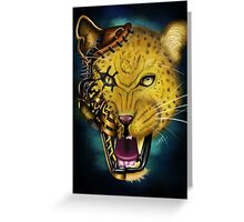 Mechanical Monsters: Leopard Greeting Card