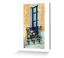 Window Terrace, Cagliari, Sardinia Greeting Card