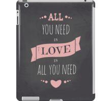 Valentine's Day Chalkboard Design iPad Case/Skin