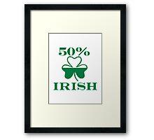 50% Irish shamrock Framed Print