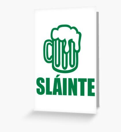 Green irish beer sláinte Greeting Card