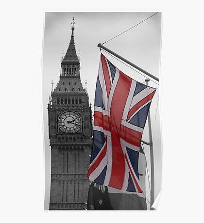 Union Flag & Big Ben Poster