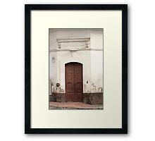 Brown Wooden Door Framed Print