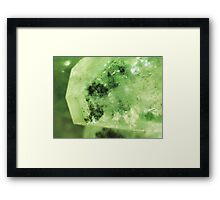 The Darkness And The Light (Apophyllite) Framed Print