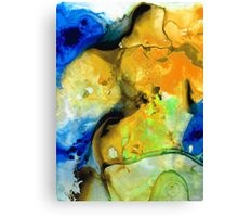 Walking On Sunshine - Abstract Painting By Sharon Cummings Canvas Print