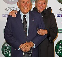 Stirling Moss with his wife at the MotorSport Hall of Fame 2014 by Keith Larby