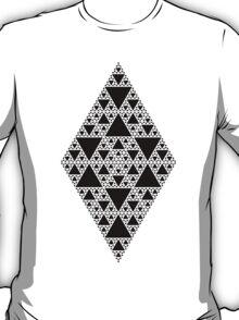 Sierpinski Triangle- Inverted Diamond T-Shirt