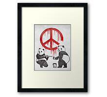 Pandalism 2 Peace Sign Framed Print