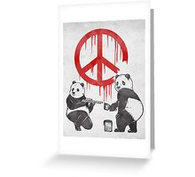 Pandalism 2 Peace Sign Greeting Card
