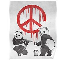 Pandalism 2 Peace Sign Poster