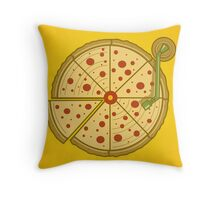 Pizza Vinyl Throw Pillow