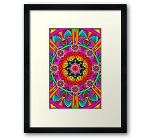 The Circle of Happiness, Fractal art Framed Print