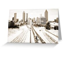 Atlanta Snowpocalypse 2014 - Rick Grimes on Freedom Parkway Greeting Card