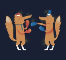 Posh Foxes like to Box while wearing Socks Kids Tee