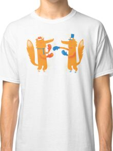 Posh Foxes like to Box while wearing Socks Classic T-Shirt