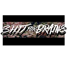 Sh**t for Brains Photographic Print