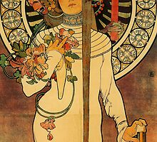 'La Trappistine' by Alphonse Mucha (Reproduction) by Roz Abellera