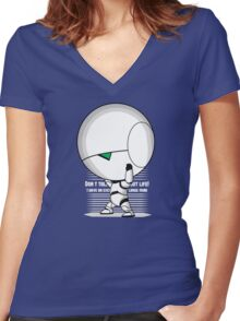 The weight of the world Women's Fitted V-Neck T-Shirt