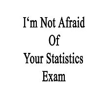 I'm Not Afraid Of Your Statistics Exam  Photographic Print