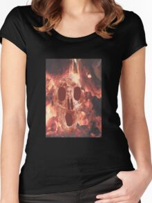 Skull Burning Women's Fitted Scoop T-Shirt