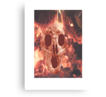 Skull Burning Canvas Print