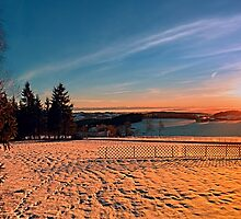 Colorful winter wonderland sundown IV | landscape photography by Patrick Jobst