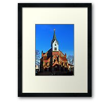 The village church of Aigen | architectural photography Framed Print