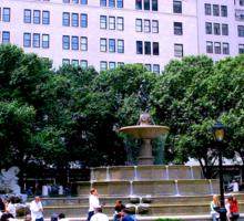 Plaza Hotel/Fountain, NYC, NY Sticker