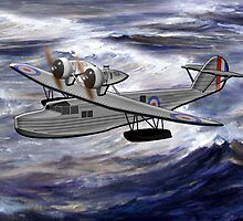 A Saro Cloud A29 of the Royal Air Force 1930 by Dennis Melling