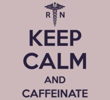 Keep Calm and Caffeinate - Purple Lettering by [original geek*] clothing