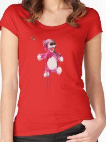 Teddy Bear Breaking Women's Fitted Scoop T-Shirt