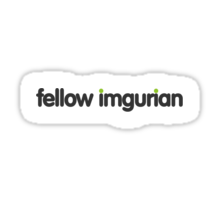 fellow imgurian (medium dark grey text) Sticker